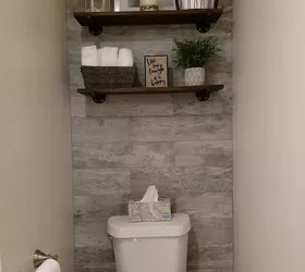Best Guest Bathroom With Toilet Closet Makeover Hometalk This Month