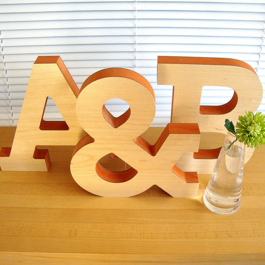 Best Large Decorative Wooden Letter Sculpture By Designed This Month