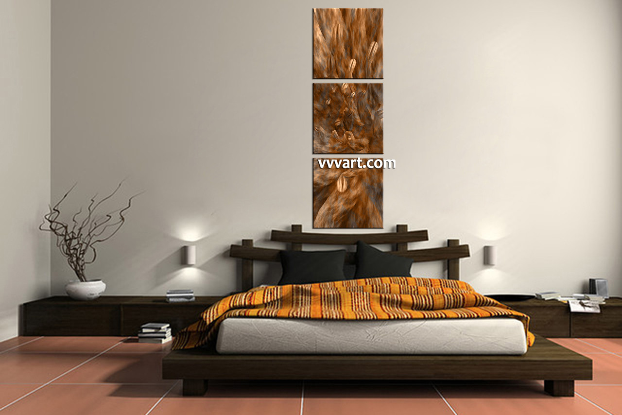 Best 3 Piece Brown Canvas Oil Paintings Abstract Wall Decor This Month