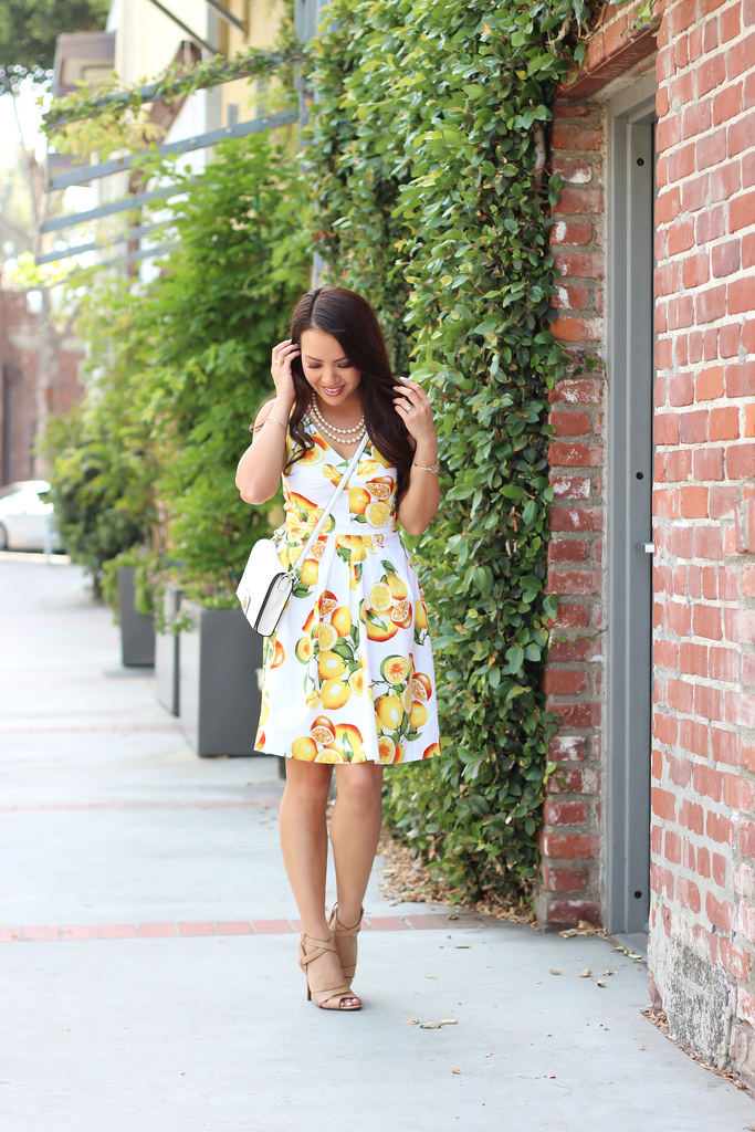 Best Banana Republic Lemon Print Fit And Flare Dress Stylish This Month