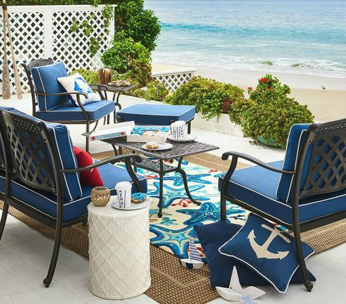 Best Blue Beach Rugs For Outdoor Living Coastal Decor Ideas This Month