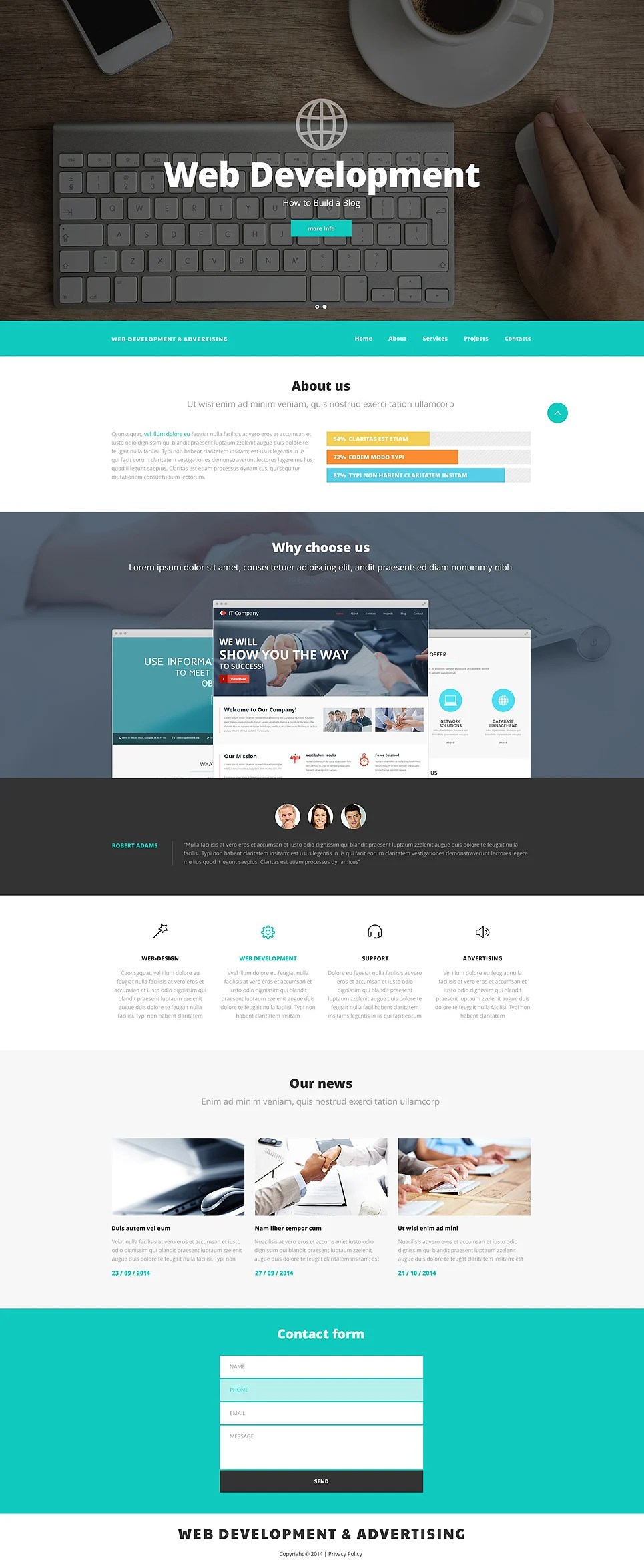 Best Web Design And Advertising Website Template 52537 This Month