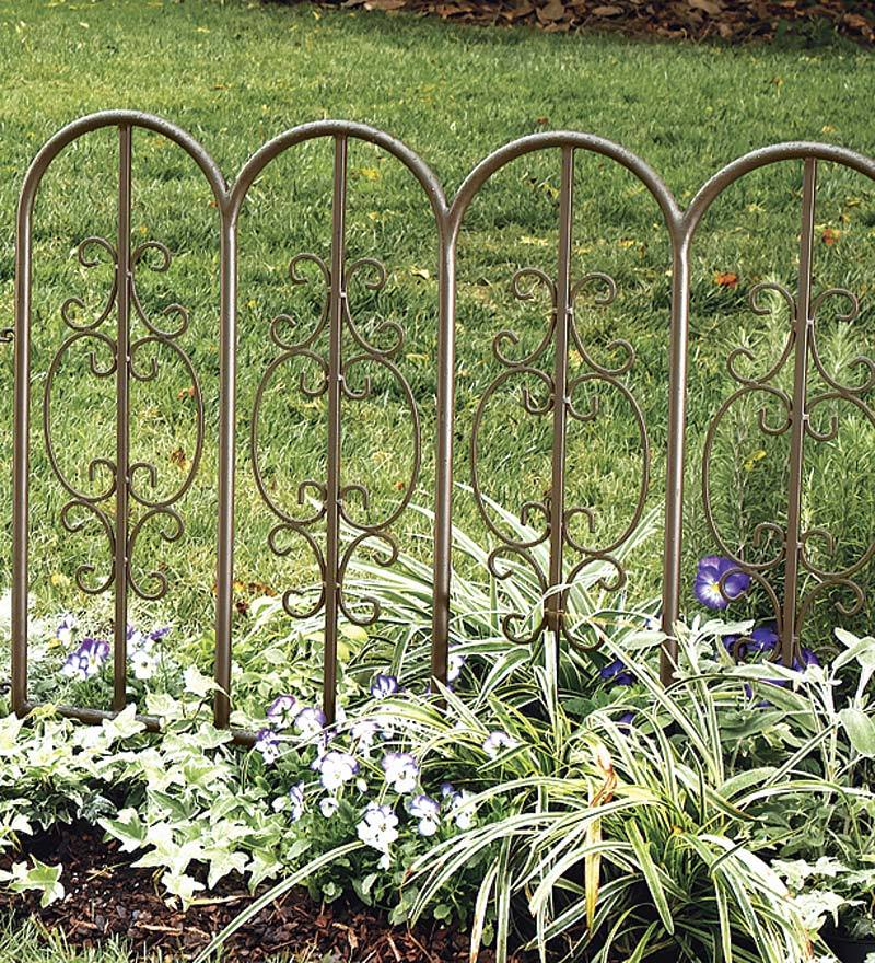 Best Montebello Outdoor Decorative Garden Fence Set Of 4 Iron This Month