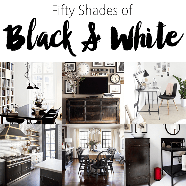 Best 50 Shades Of Black And White Home Decor The Cottage Market This Month