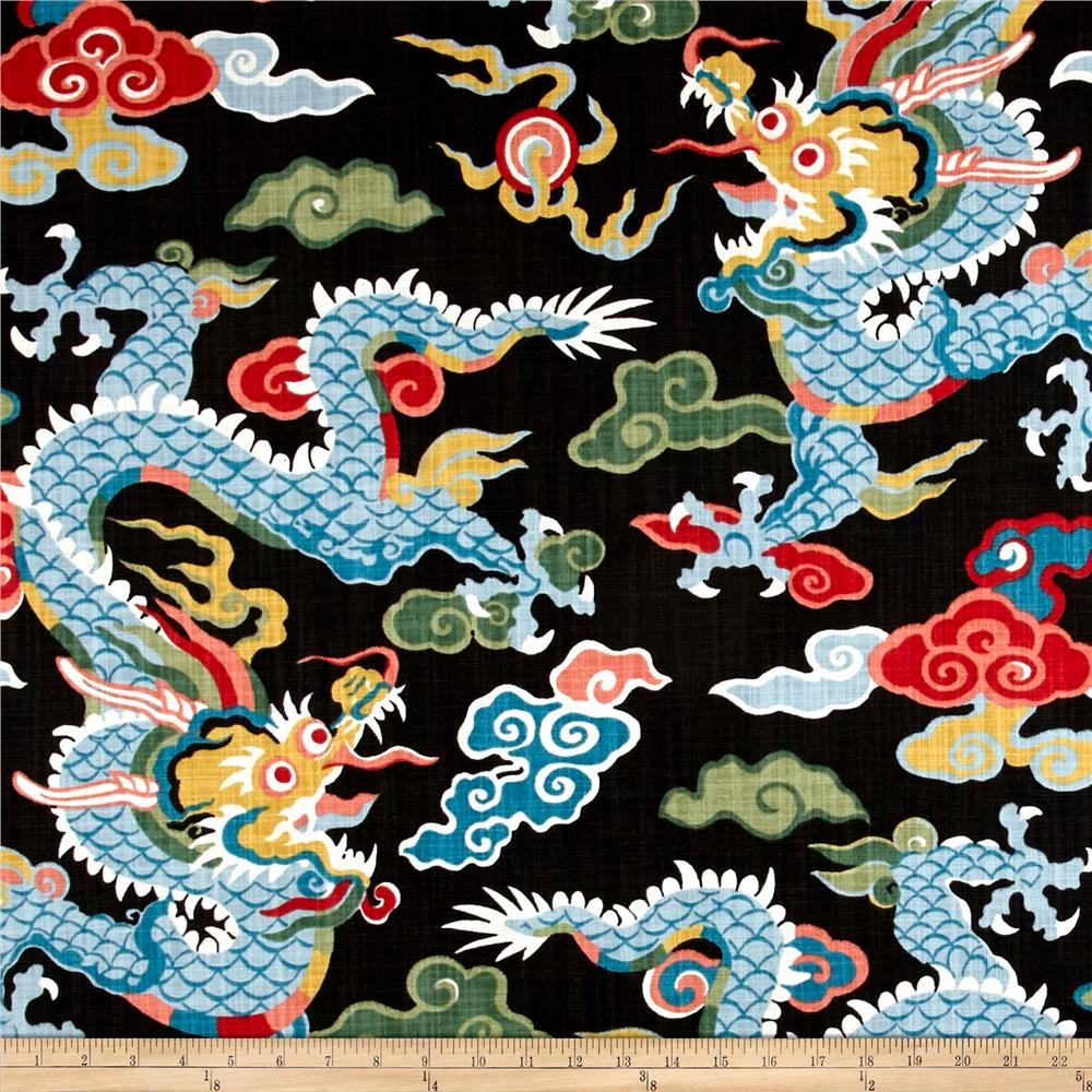 Best Home Accent Dragon Black Magic Discount Designer Fabric This Month