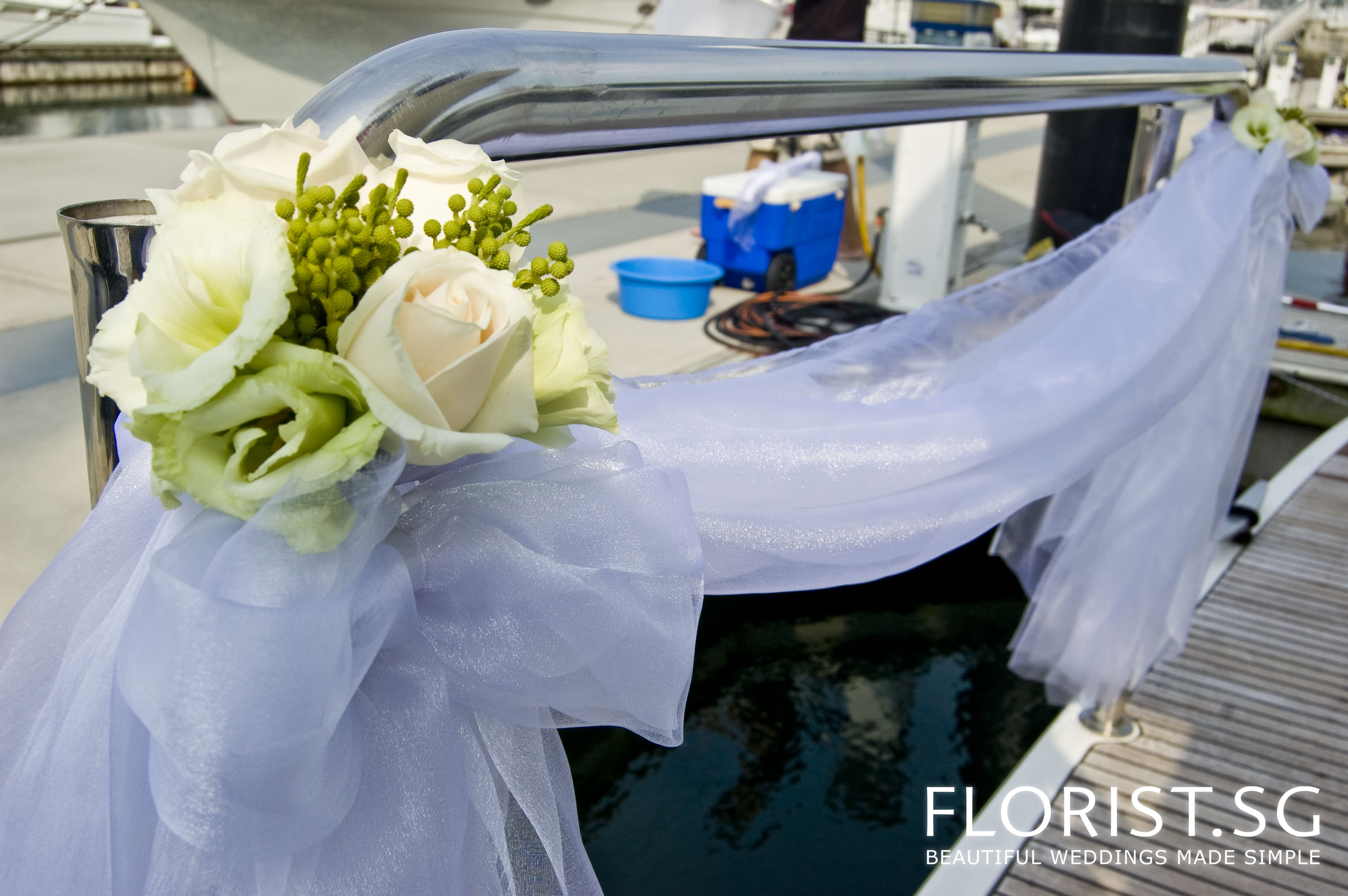 Best Wedding Reception On Sea Duction Yacht Florist Sg This Month
