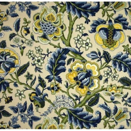 Best Imperial Dress Blue Home Decor Cotton Fabric By Waverly This Month