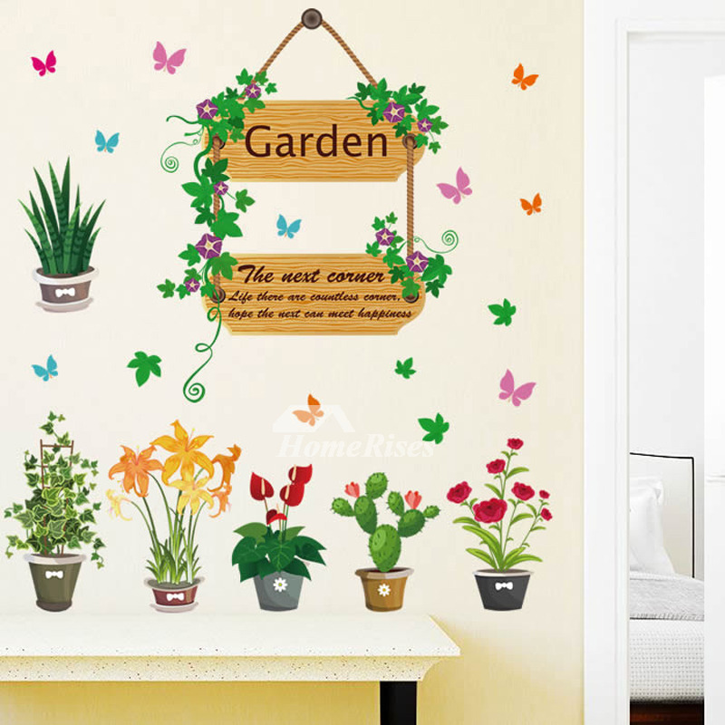 Best Cheap Wall Stickers Plant Pattern Home Decor Pvc Living This Month