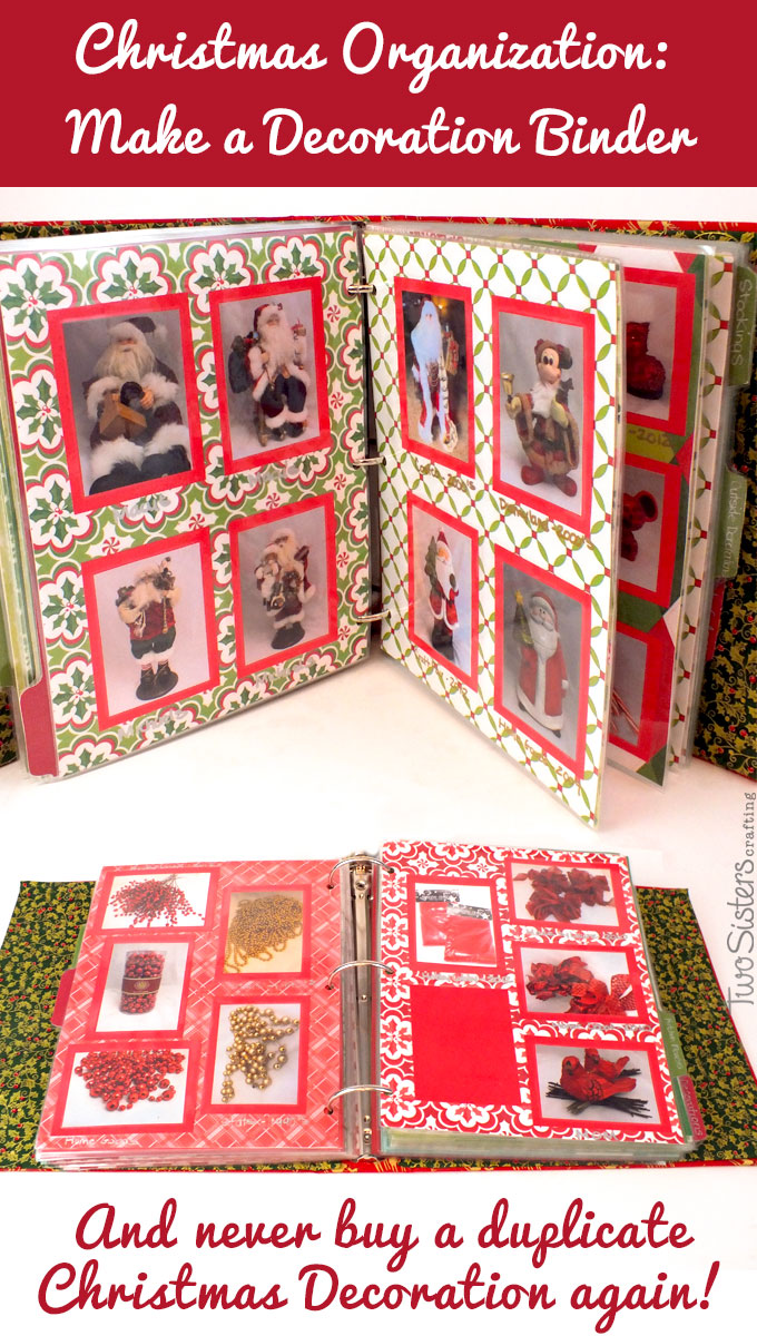 Best Christmas Decoration Binder Two Sisters This Month