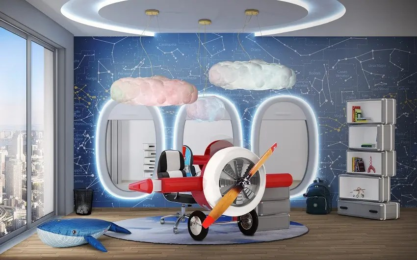 Best Kids Room Design Sky Collection For Little Pilots This Month