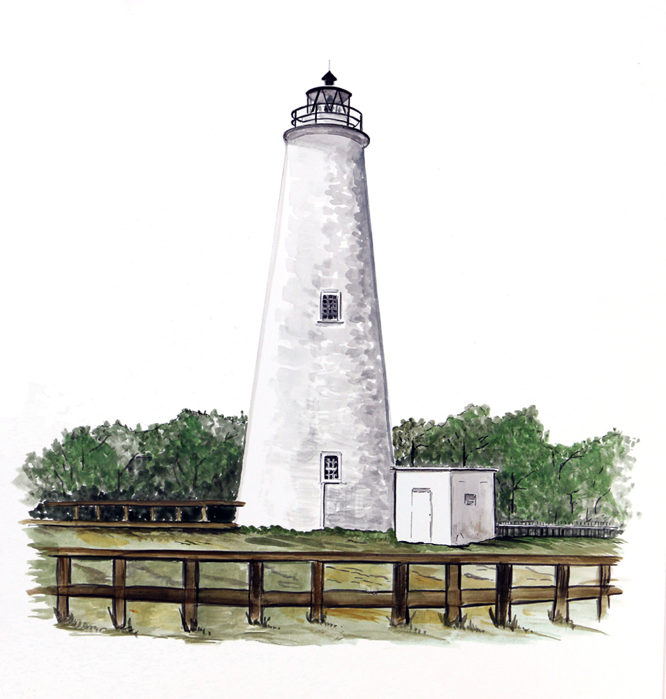 Best Outer Banks Ocracoke Light House Lighthouse Home Office This Month
