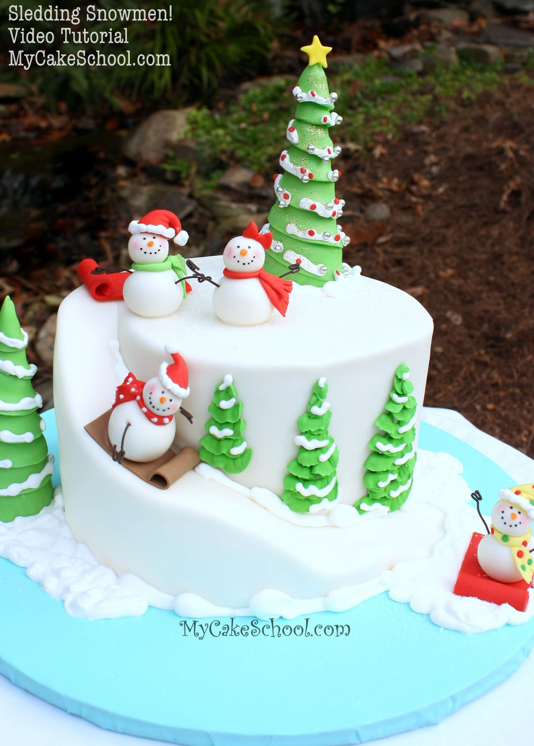 Best Sledding Snowman A Carved Cake Video Tutorial My Cake This Month