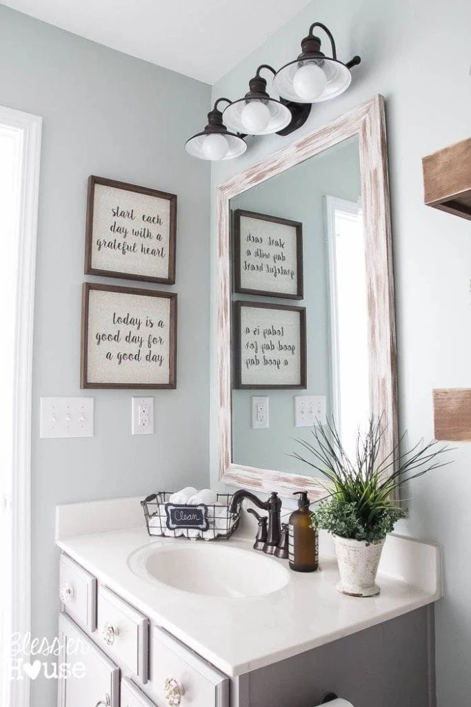 Best Modern Farmhouse Bathroom Makeover Reveal This Month