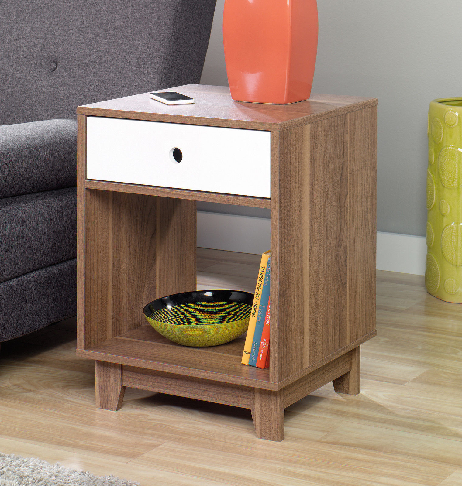 Best 2 Inspired Accents Decorative Walnut Side End Tables Pair This Month