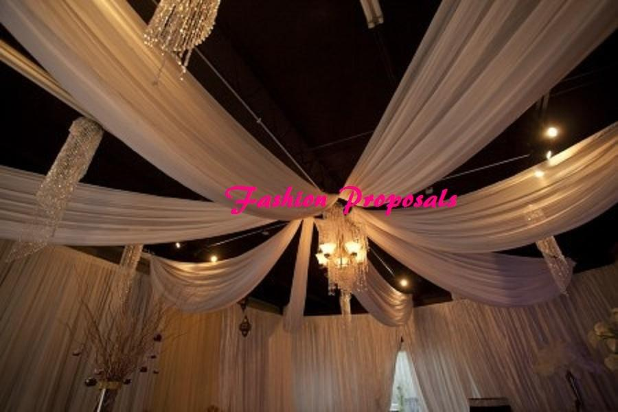 Best White Fabric Kit Decor 60 Ft Long By 6 Panels Of 45 Inches This Month