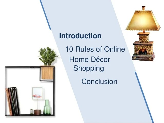 Best 10 Rules Of Online Home Decor Shopping This Month