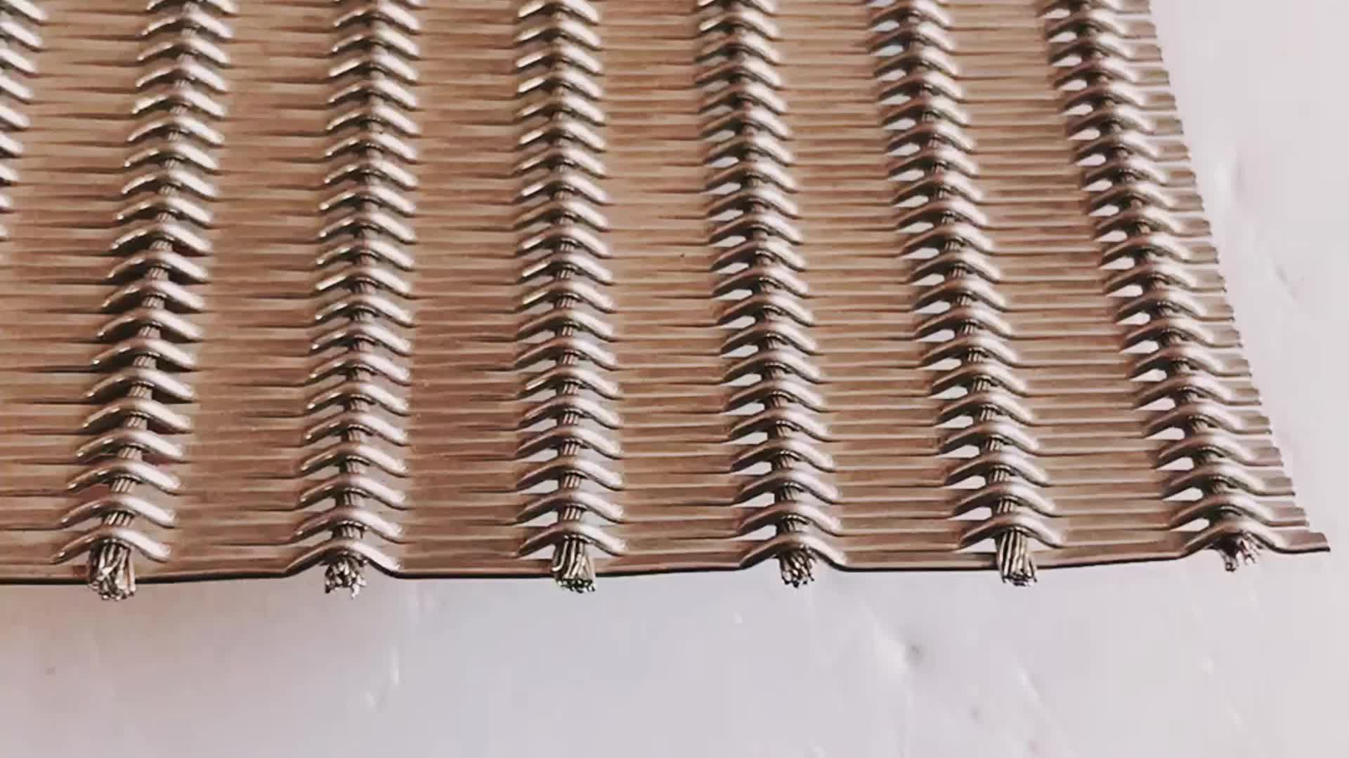 Best Weave Type Decorative Wire Mesh Used For Elevator Cab Mesh This Month