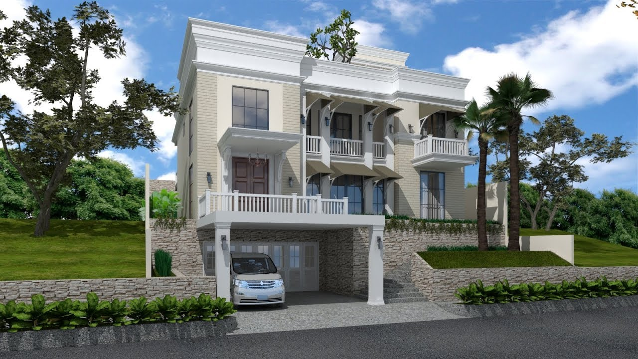Best Sketchup House Exterior Design 4 Vray 3 4 Render Youtube This Month