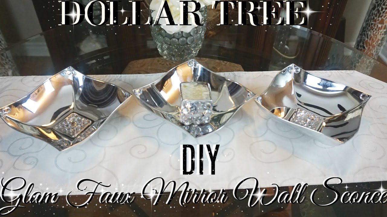 Best Diy Dollar Tree Glam Faux Mirror Candle Holder Wall Sconce This Month