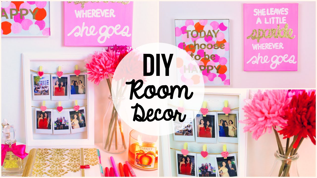 Best Diy Room Decor 2015 ♡ 3 Easy Simple Wall Art Ideas This Month