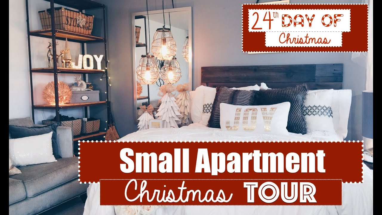 Best Small Apartment Christmas Decorating 2015 Tour 24Th Day This Month