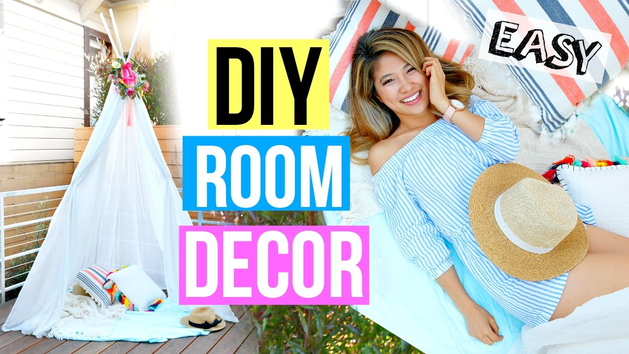 Best Diy Room Decor 2016 Easy Summer Fort Youtube This Month