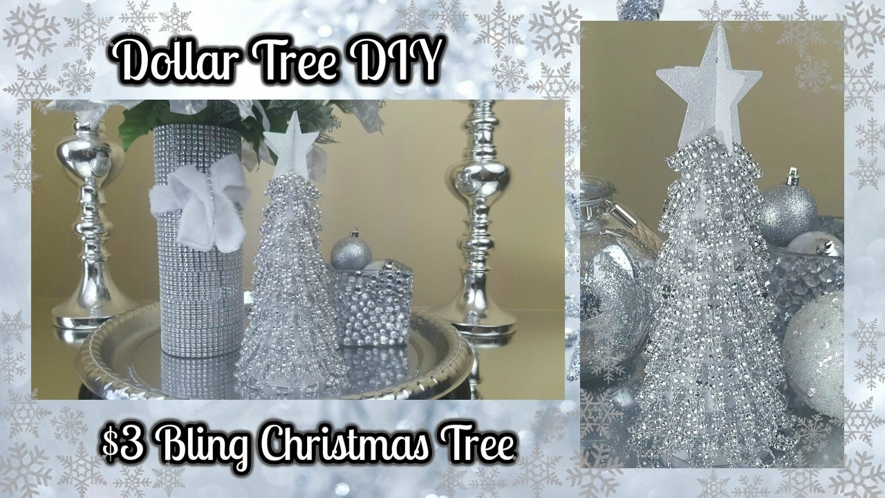 Best Dollar Tree Diy Blingy Christmas Tree 3 Easy Home Decor This Month