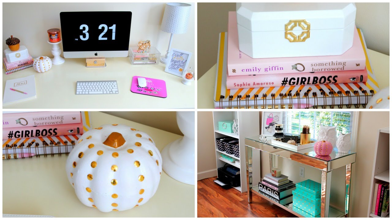 Best Desk Tour Fall Edition Diy Fall Room Decor Youtube This Month