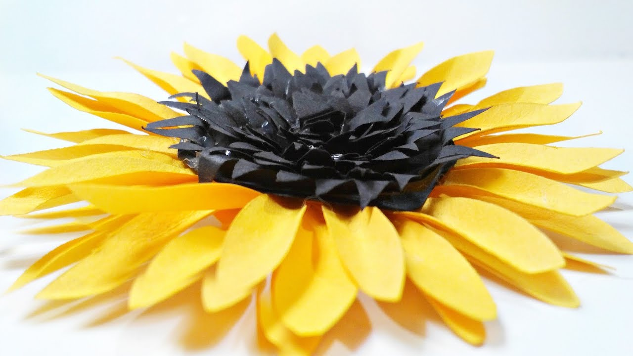 Best Diy Paper Sunflower Flower For Wall Backdrop Decoration This Month