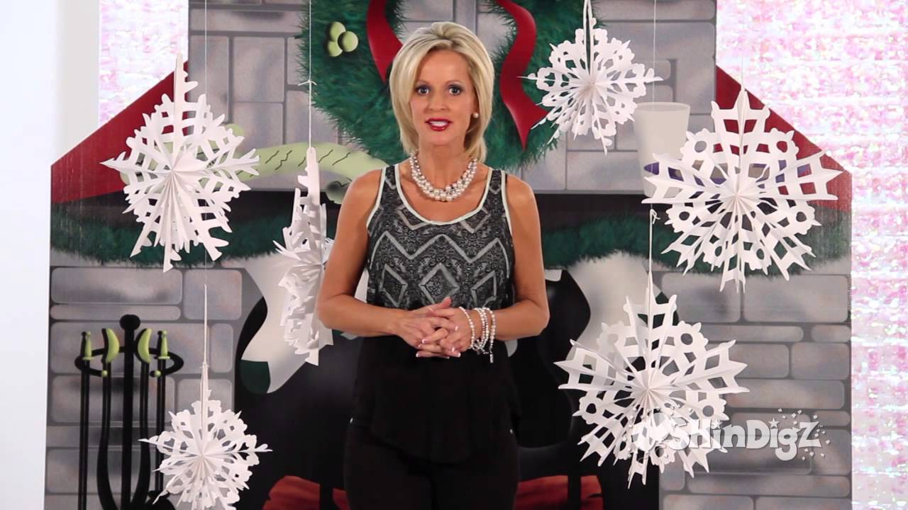 Best Large Hanging Snowflakes Shindigz Christmas Decorations This Month