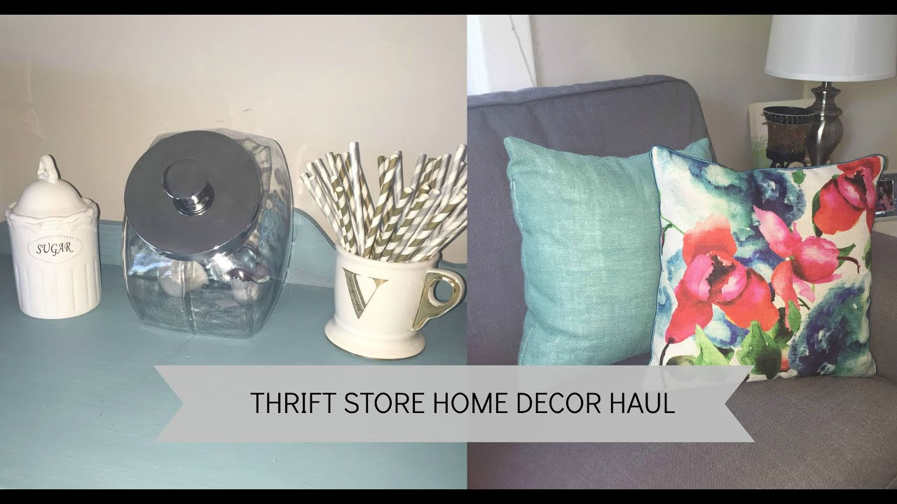 Best Thrift Store Home Decor Haul Youtube This Month