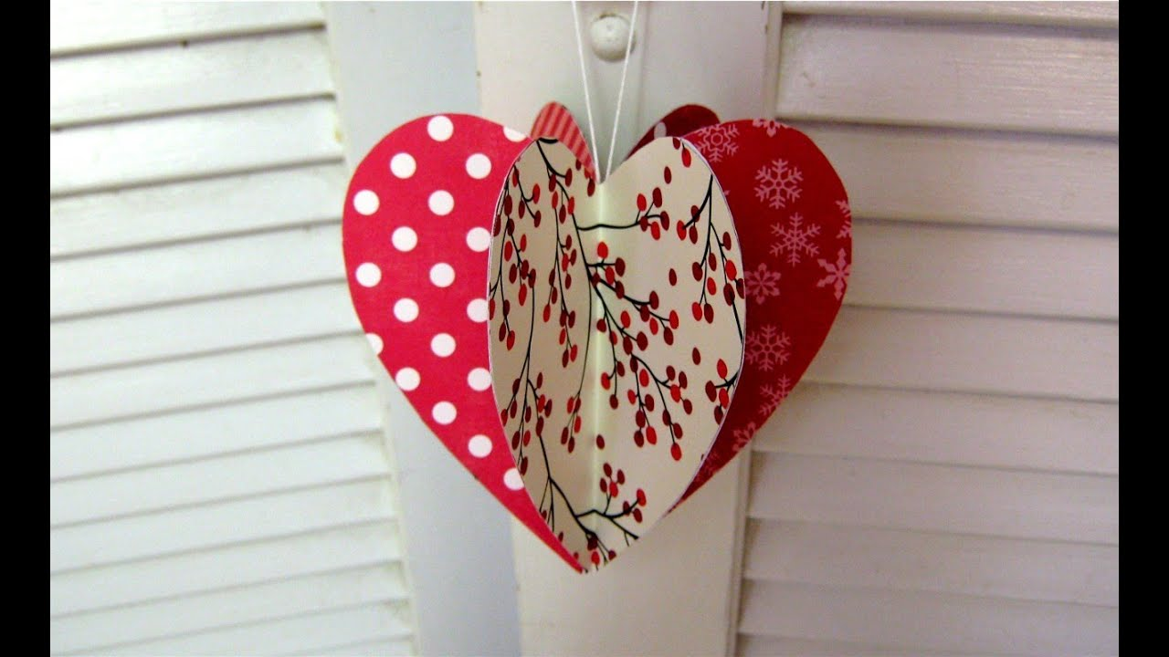 Best Mothers Day Paper Heart Decoration Card Youtube This Month