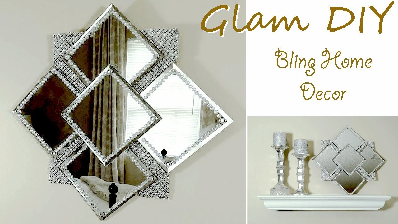 Best Dollar Tree Diy Easy Glam Bling Wall Mirror Glam Wall This Month