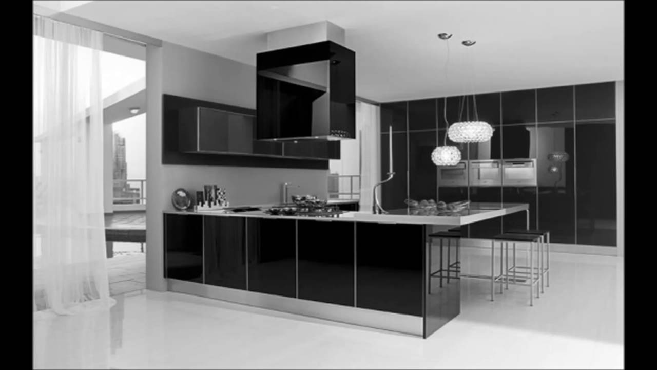 Best Ultra Modern Black And White Kitchen Decorating Interior This Month