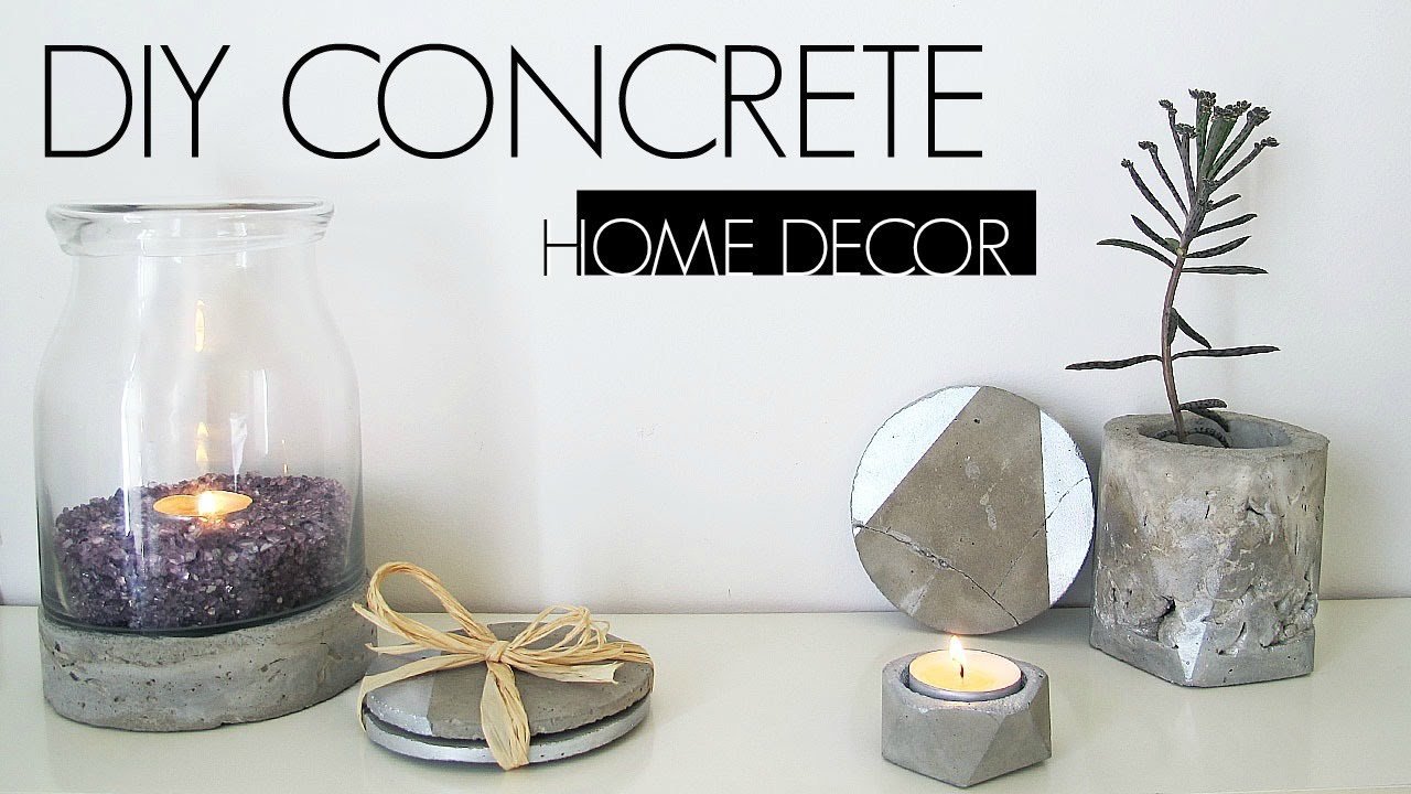 Best Diy Concrete Home Decor Youtube This Month