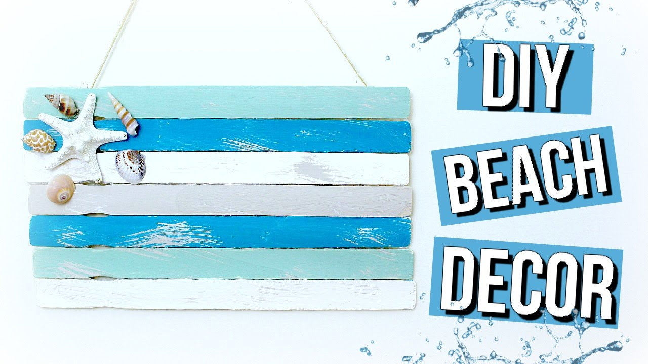 Best Diy Beach Room Decor Pinterest Inspired Beach Flag Youtube This Month