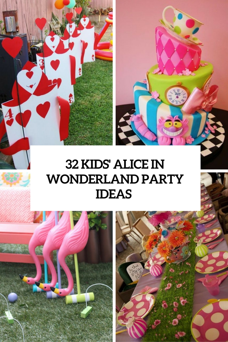 Best 32 Kids Alice In Wonderland Party Ideas Shelterness This Month