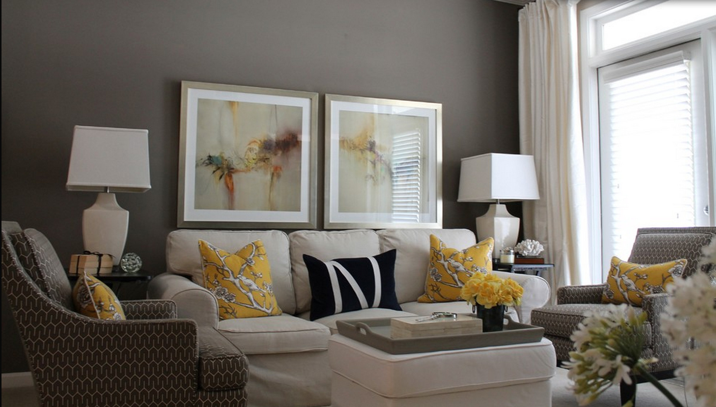 Best Contemporary Decor Living Room Gray And Yellow Just This Month