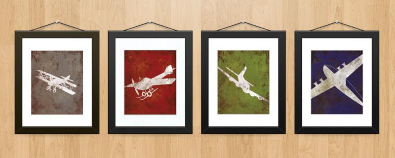 Best Vintage Airplane Aviation Print Series Wall By This Month
