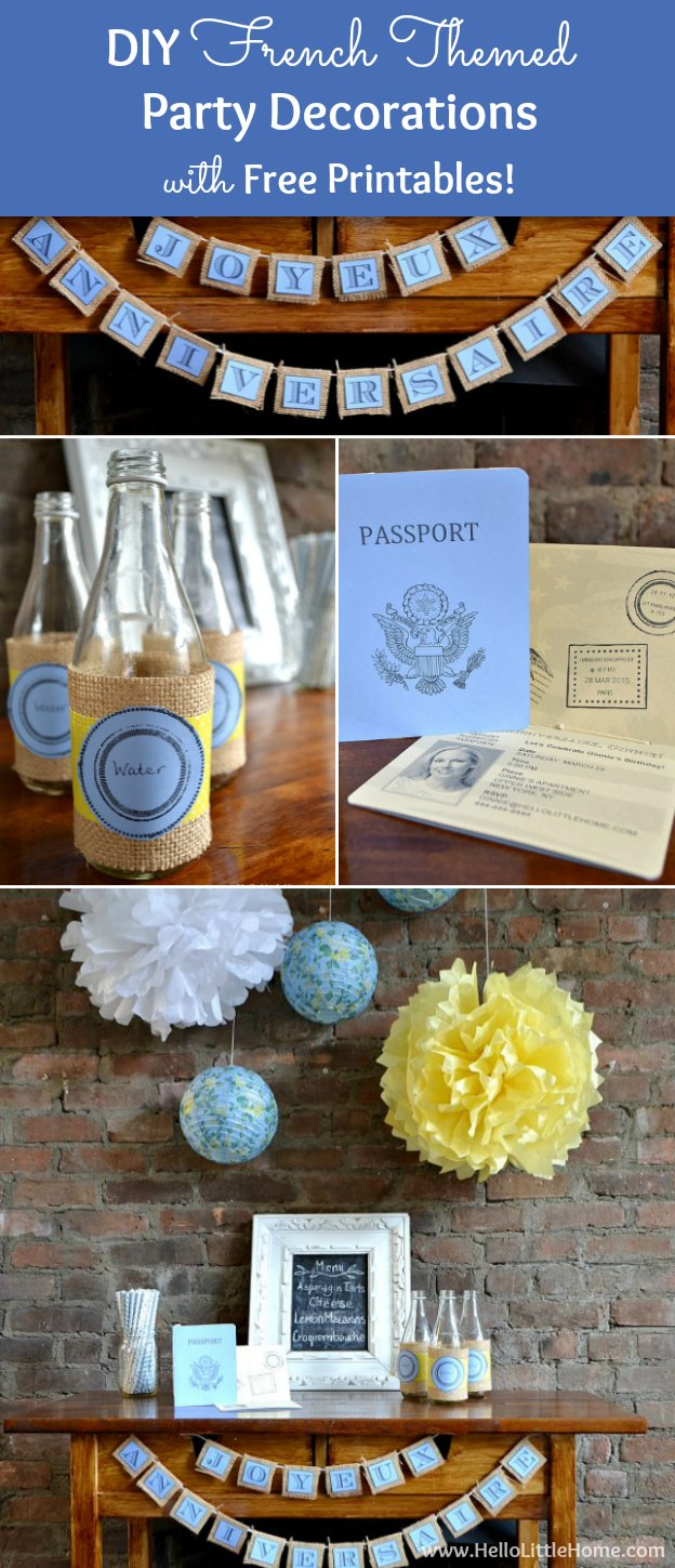Best Diy French Themed Party Decorations With Free Printables This Month