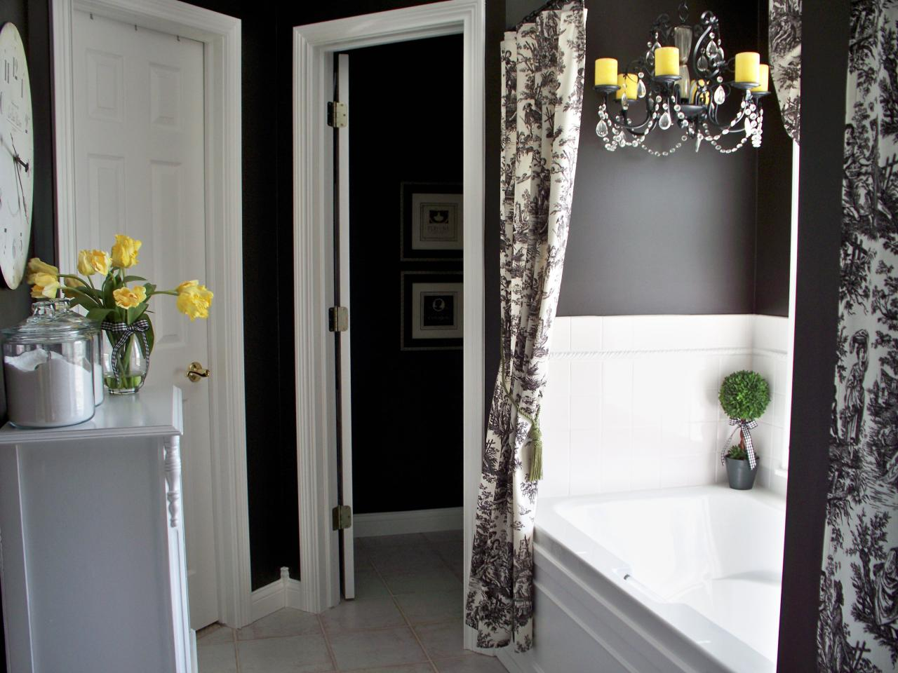 Best Black And White Bathroom Decor Ideas Hgtv Pictures Hgtv This Month