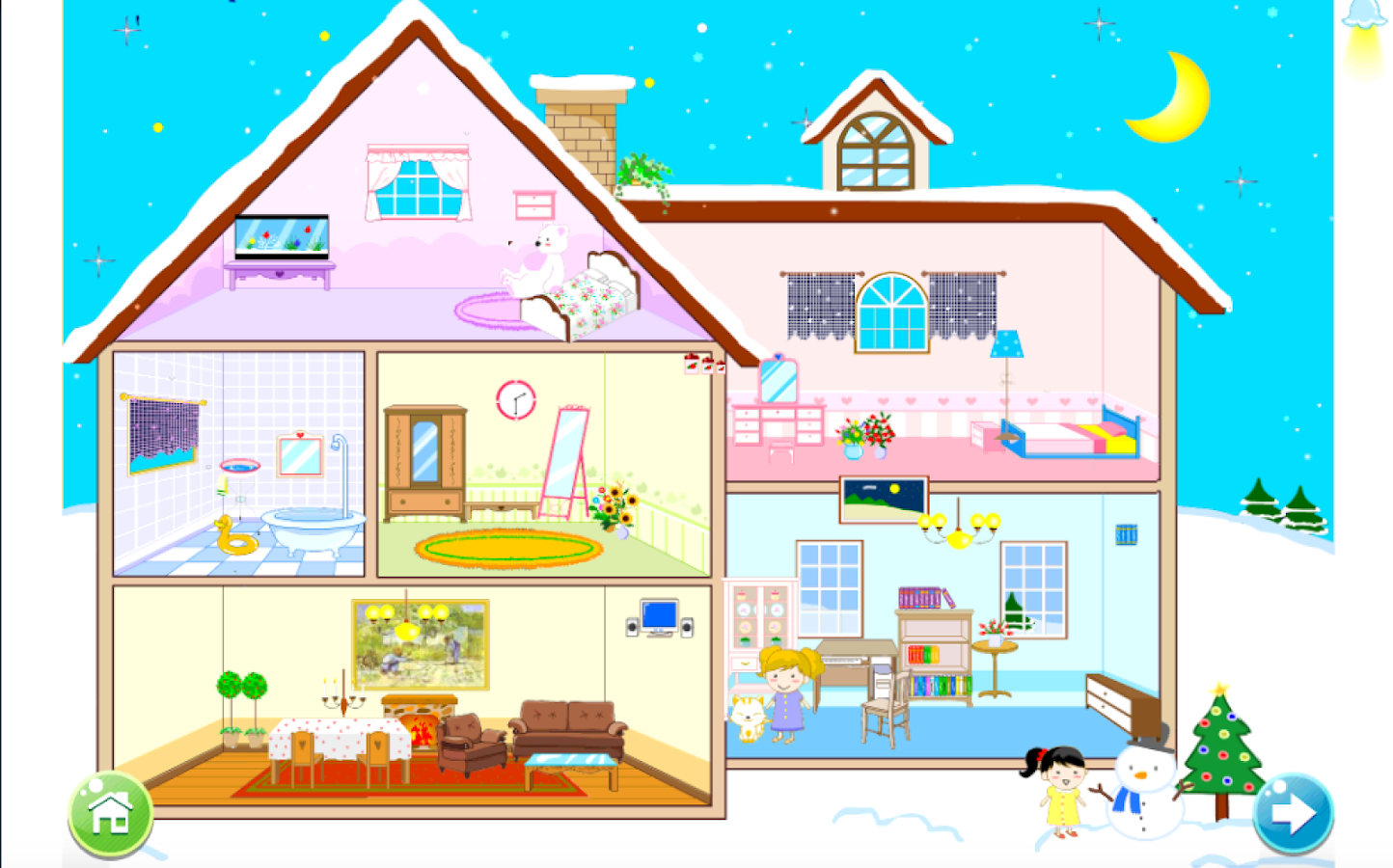 Best Christmas Doll House Decorating Games 17 Agustus 2017 This Month