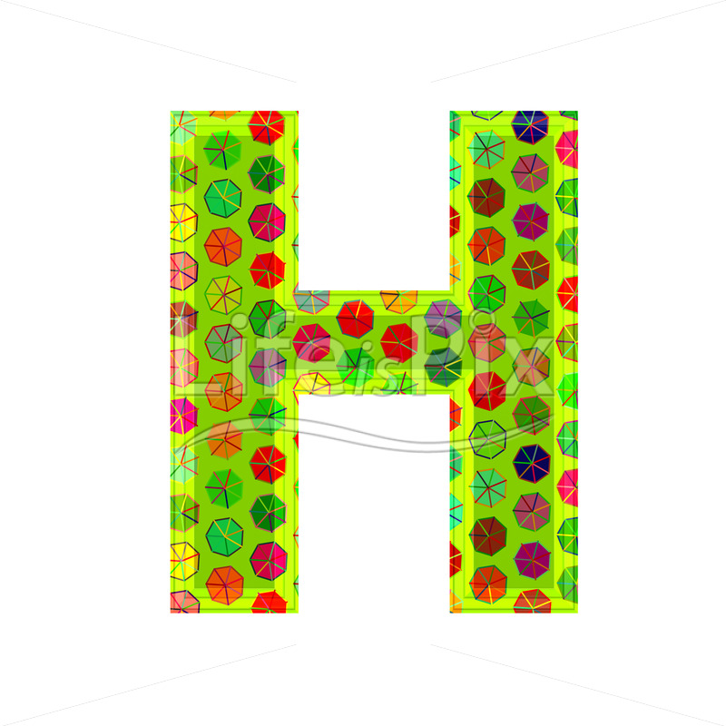 Best 3D Letter With Decorative Texture H Royalty Free Stock This Month
