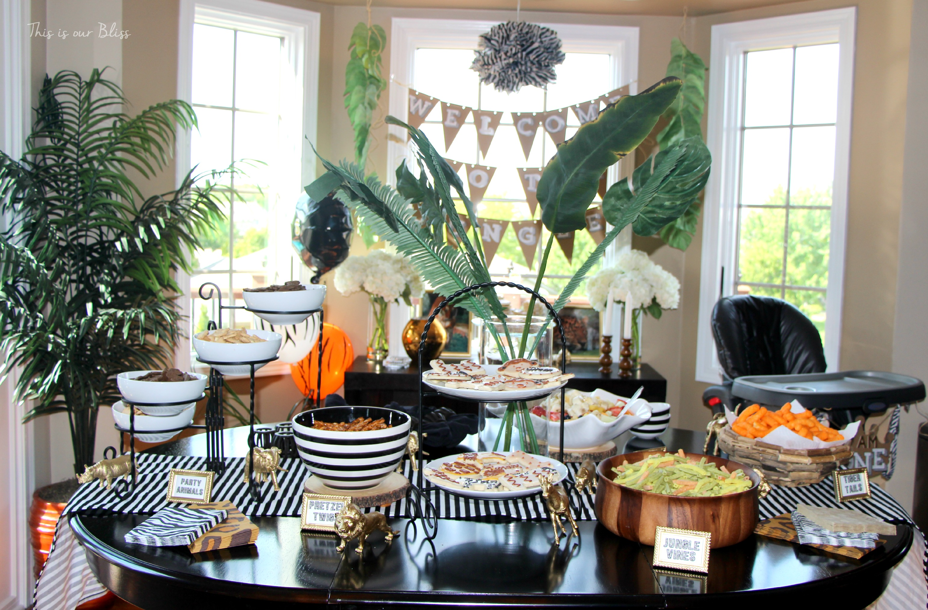 Best Safari Style Soiree Source List 2 Free Party Printables This Month