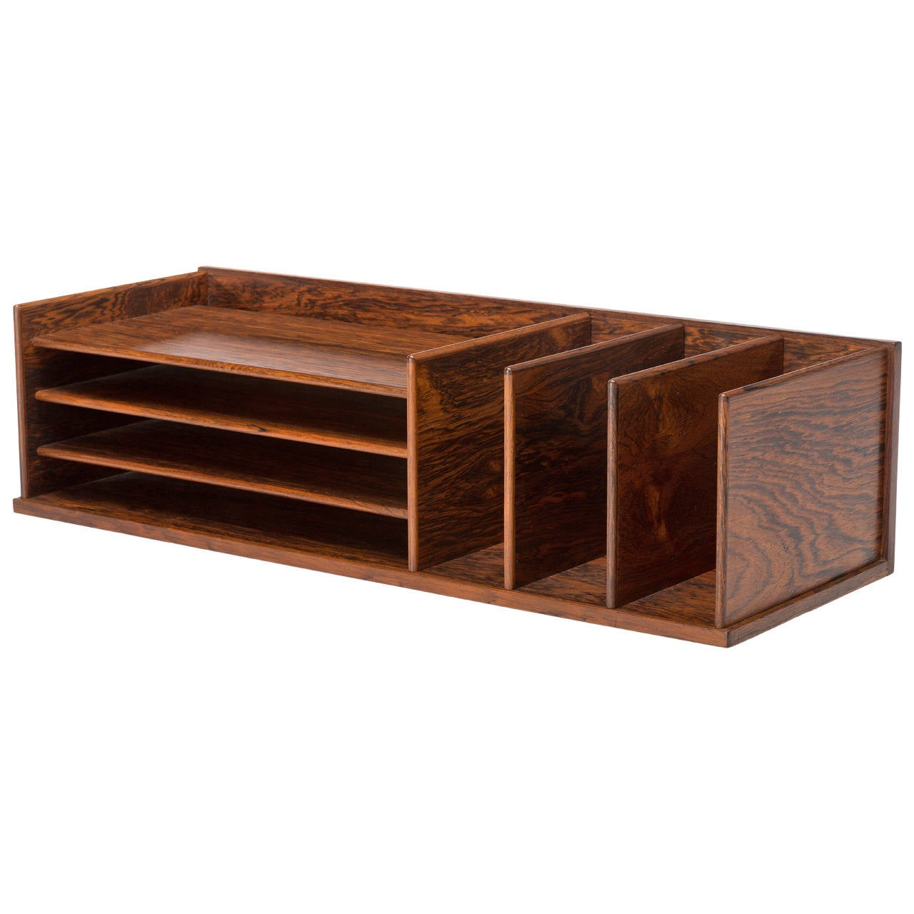 Best Danish Rosewood Desktop Letter Organizer By Georg This Month