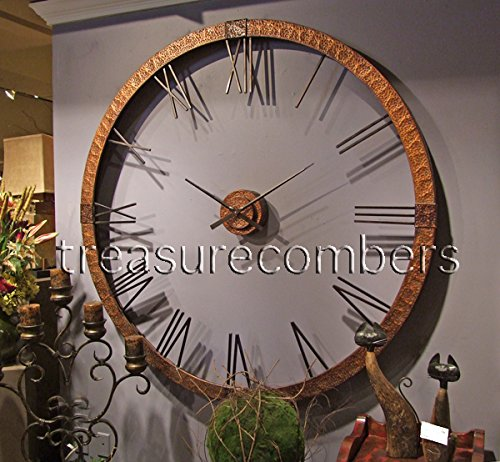 Best Extra Large Copper Open Wall Clock Designer Openwork Xl This Month