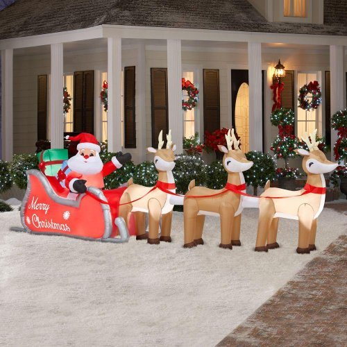 Best Outdoor Christmas Large Decorations With Lighted Lawn This Month