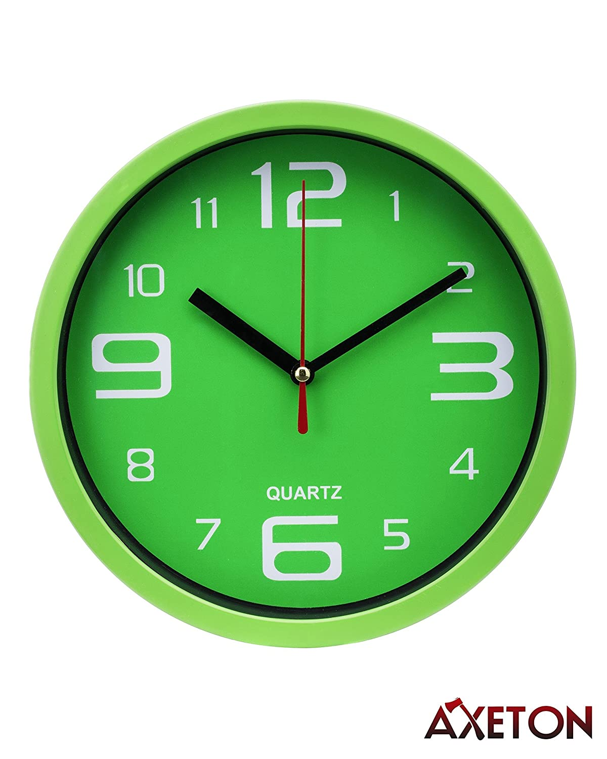 Best Axeton Decorative Wall Clock 7 Inches Green Styled Aa This Month