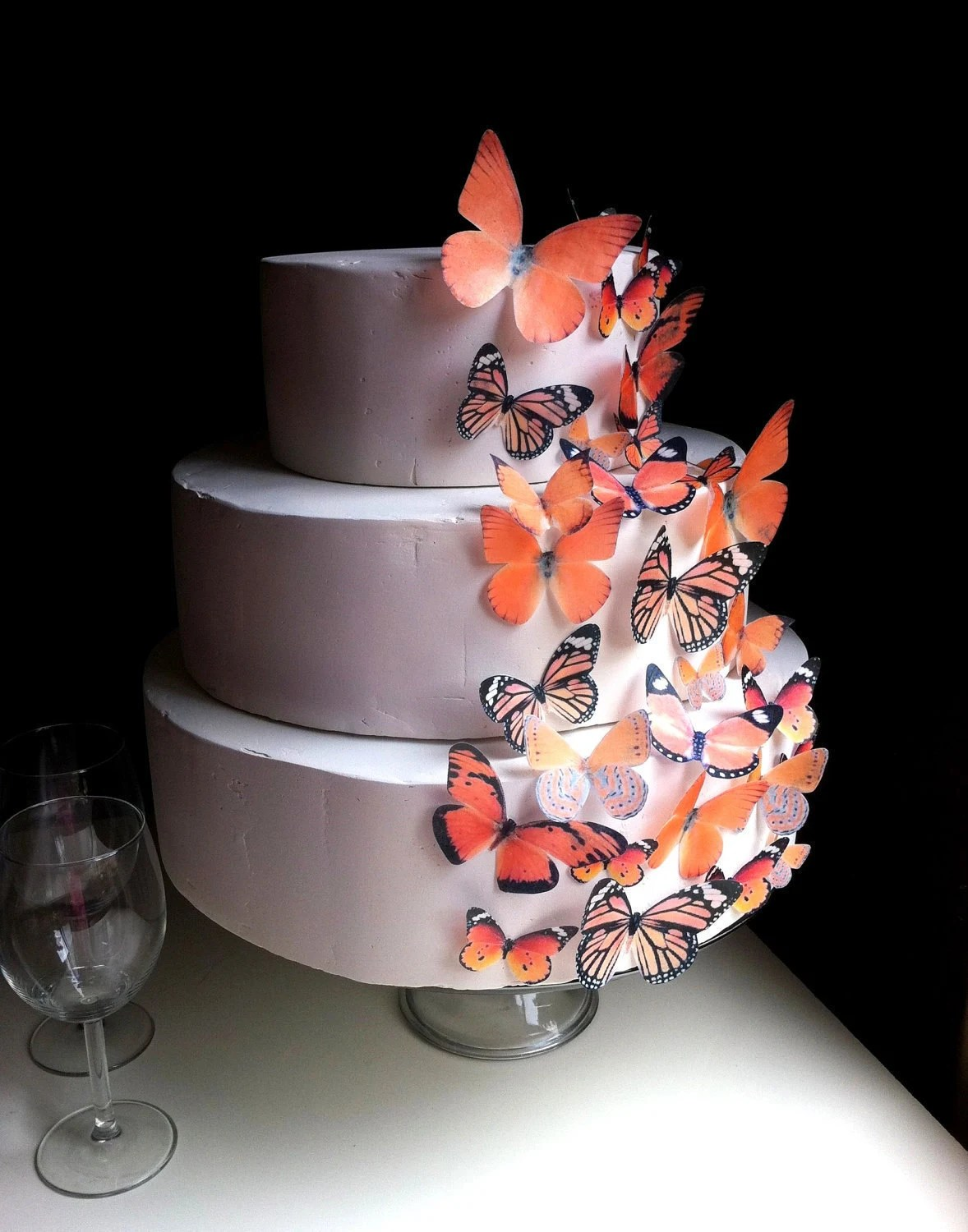Best Edible Butterfly Cake Decoration Assorted Orange Edible This Month