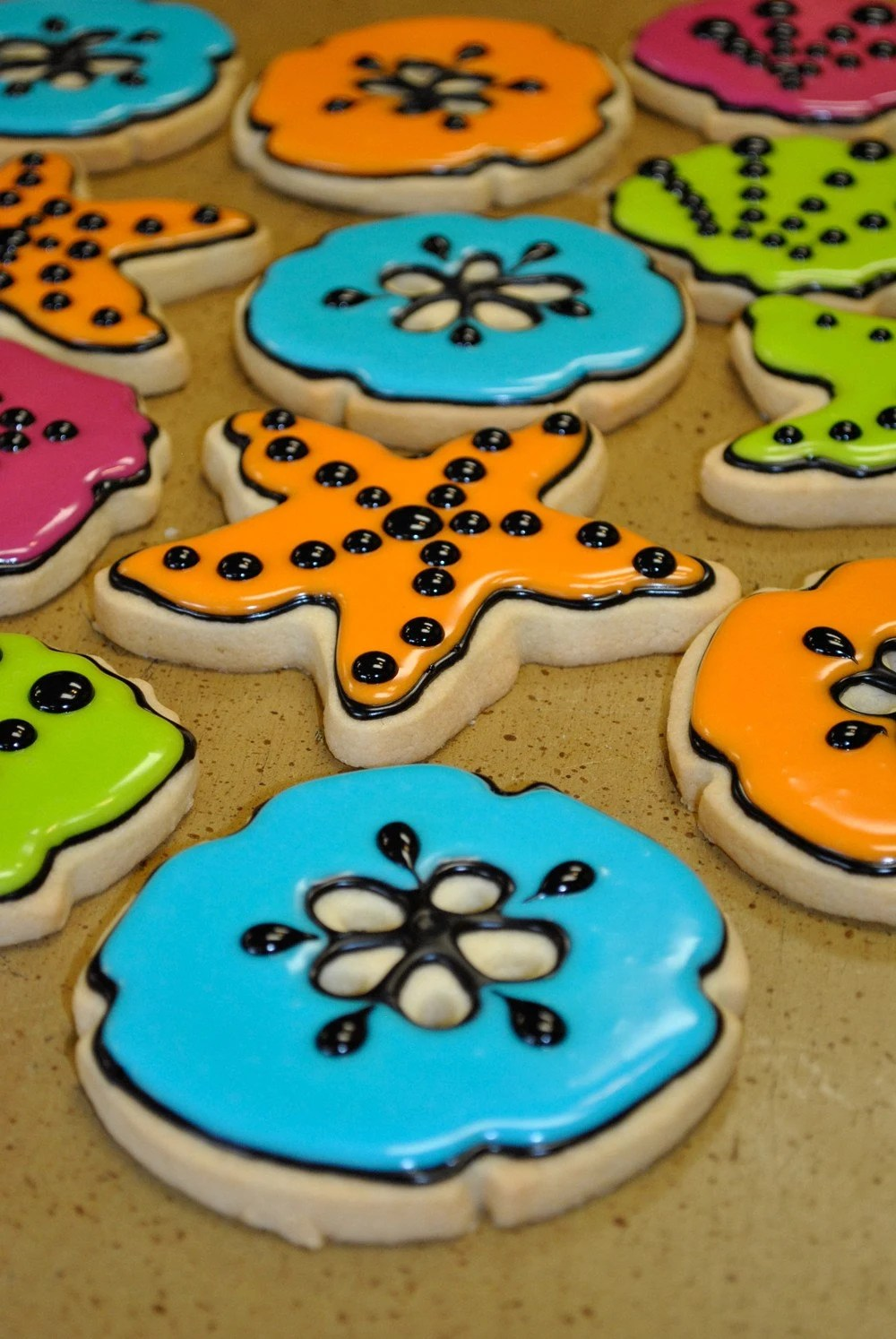Best Colorful Sea Shell Hand Decorated Sugar Cookies This Month
